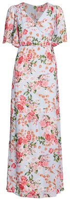 By Ti Mo Summer of Love Floral Long Wrap Dress