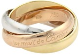 Cartier Trinity 18K Yellow White And Rose Gold Ring Size EU 47-US 4