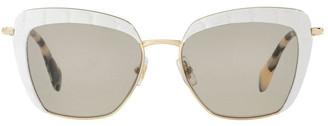 Miu Miu MU 52QS 396592 Sunglasses White