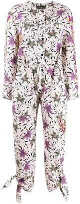 Isabel Marant Floral Print Long-Sleeve Jumpsuit