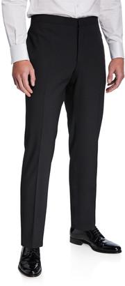 Emporio Armani Men's Stretch-Wool Tuxedo Pants