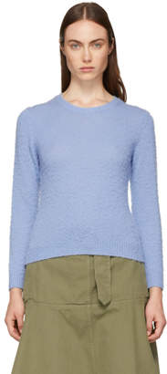 Acne Studios Blue Shrunken Fit Crewneck Sweater