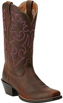 Ariat Women's Round up Square Toe Western Cowboy Boot