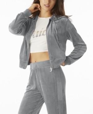 Juicy Couture Women's Bling Zip Hoodie