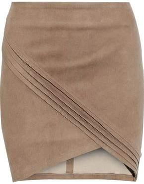 RtA Pleated Suede Mini Skirt