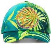 Versace Medusa-embroidered jungle print baseball cap