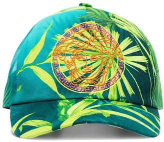 Versace Medusa-embroidered jungle print baseball cap