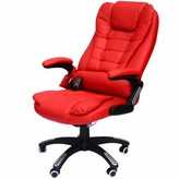 Cranston Heated Massage Chair Winston Porter Fabric: Red Faux Leather