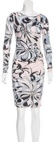 Emilio Pucci Abstract Print Ruched Dress