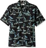 Reyn Spooner Men's Holo Kiki Classic Fit Sail Boat Motif Hawaiian Shirt