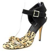Kensie Ravette Women Open Toe Suede Black Sandals.