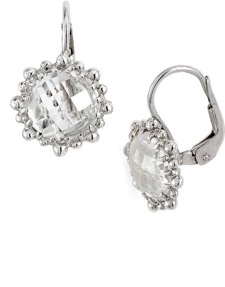 Anzie Dew Drop Snowflake White Topaz Drop Earrings