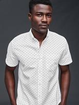 Gap Oxford dot short sleeve standard fit shirt