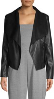 Bagatelle Open Front Faux Leather Jacket