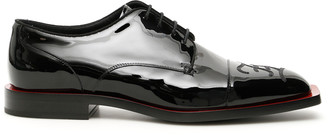 Fendi FF KARLIGRAPHY LACE-UPS 9 Black Leather