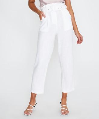 Alice In The Eve Tami Paperbag Pants White