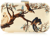Silvia Furmanovich White Marquetry Bird Clutch