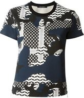 Neil Barrett patterned camouflage T-shirt - women - Cotton/Spandex/Elastane/Lyocell/Rayon - M