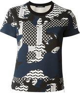 Neil Barrett patterned camouflage T-shirt