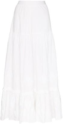 Chufy Tiered Cotton Maxi Skirt