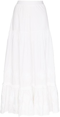 CHUFY Tiered Cotton Maxi Skirt