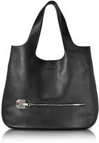 Giorgio Fedon Amelia Black Leather Slim Tote Bag