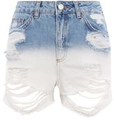 Topshop Moto dip dye mom shorts