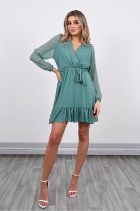 Lucy Sparks Long Sleeve Mini Dress | Teal
