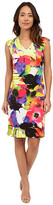 Christin Michaels Trieste Printed Scuba Dress