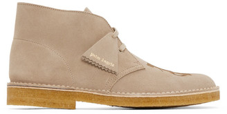 Palm Angels Beige Clarks Originals Edition Logo Desert Boots