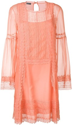 Alberta Ferretti Lace Inserts Dress