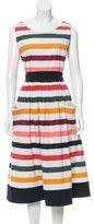 Carolina Herrera Belted Striped Dress