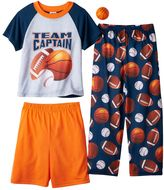 Boys 4-12 Up-Late Basketball 3-Piece Pajama Set
