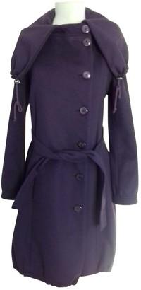Patrizia Pepe Purple Wool Coat for Women