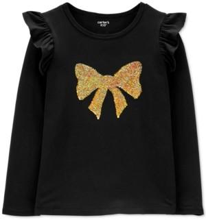 Carter's Big & Little Girls Flip-Sequin Bow Shirt