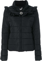Love Moschino frilled shoulders puffer jacket