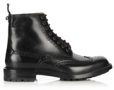 Gucci Lace-up Leather Brogue Boots