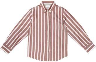 Brunello Cucinelli Kids Striped cotton shirt