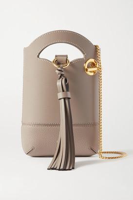Chloé Walden Smooth And Textured-leather Shoulder Bag - Beige