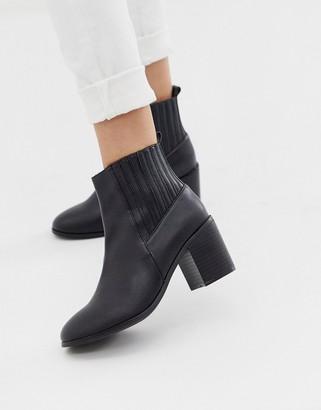 ASOS DESIGN Reform chelsea ankle boots in black