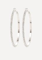 Bebe Crystal Hoop Earrings
