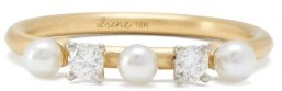 Irene Neuwirth Diamond, Pearl & 18kt Gold Ring - Yellow Gold