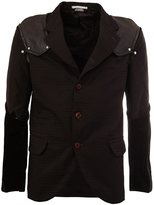Comme des Garcons patchwork sleeve blazer