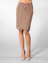 Pencil Box Skirt in Bark