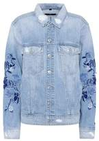 7 For All Mankind Boyfriend embroidered denim jacket