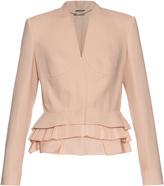 Alexander McQueen Peplum-hem wool and silk-blend jacket