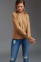 Dynamite Dolman Sleeve Mock Neck Sweater