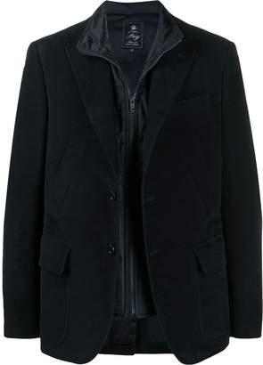 Fay zipped single-breasted blazer