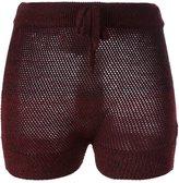Vivienne Westwood ribbed short shorts