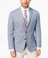 Kenneth Cole Reaction Men's Slim-Fit Stretch Blue/White Mini-Grid Sport Coat